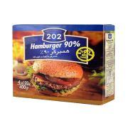 همبرگر کلاسیک ۲۰۲ ۹۰% گوشت-۴۰۰ گرمی