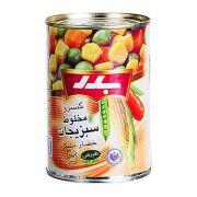 کنسرو مخلوط سبزیجات بدر ۴۳۰ گرمی