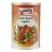 کنسرو مخلوط سبزیجات چاشنی ۴۳۰ گرمی